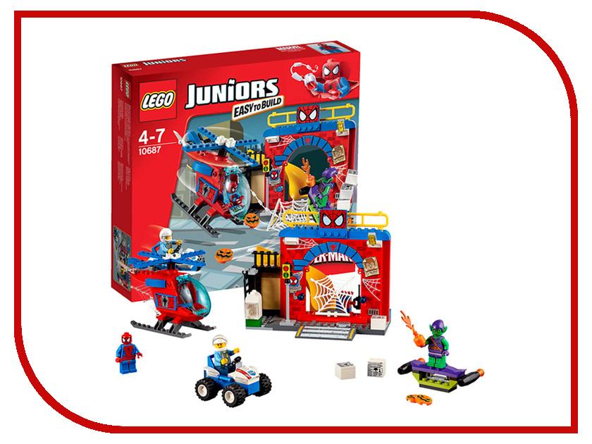 Конструктор Lego Juniors Убежище Человека-паука 10687 lego juniors конструктор финальная гонка флорида 500 10745