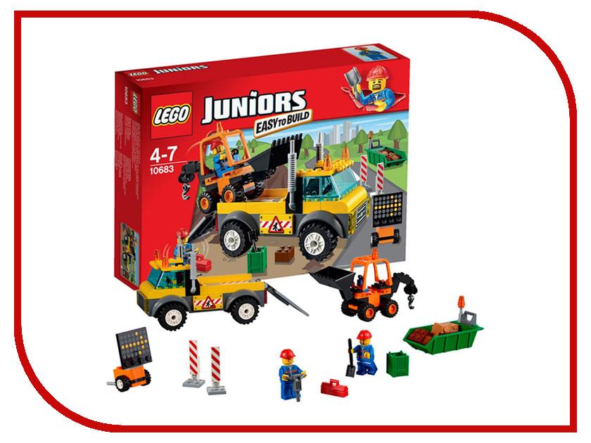 Конструктор Lego Juniors Грузовик для дорожных работ 10683 lego juniors конструктор финальная гонка флорида 500 10745
