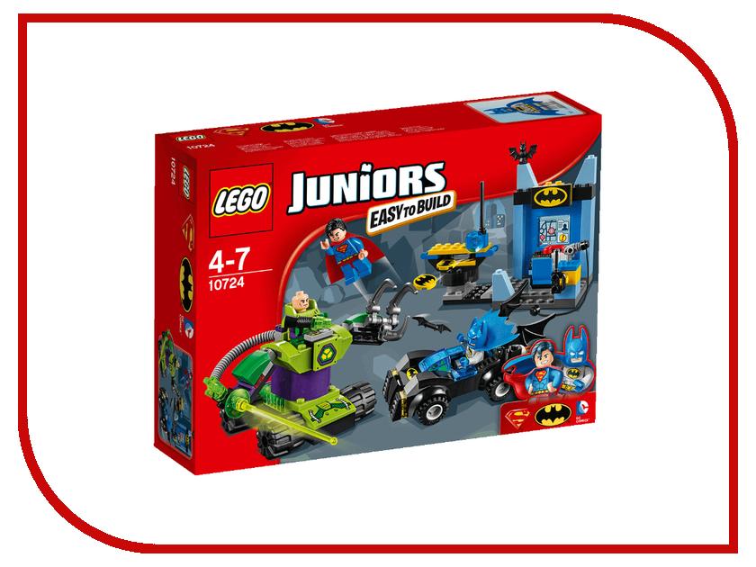 Конструктор Lego Juniors Бэтмен и Супермен против Лекса Лютора 10724 lego lego juniors бэтмен против мистера фриза