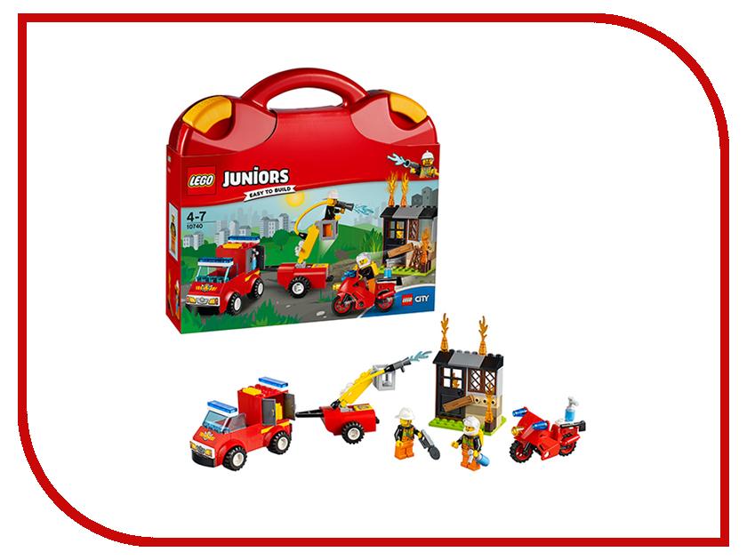 Конструктор Lego Juniors Чемоданчик Пожарная команда 10740 конструктор lego juniors ветеринарная клиника мии 10728