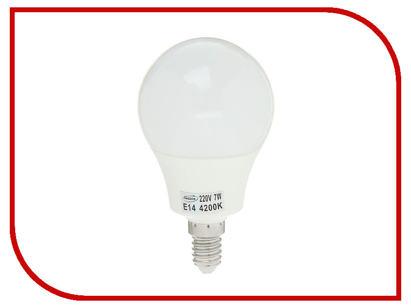 Лампочка Luazon E14 7W 4200К SMD2835 LED 560Lm 1559784 гирлянда luazon дождь 2m 6m multicolor 671678