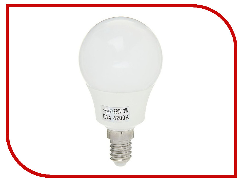 Лампочка Luazon E14 3W 4200К SMD2835 LED 240Lm 1559780 гирлянда luazon дождь 2m 6m multicolor 671678