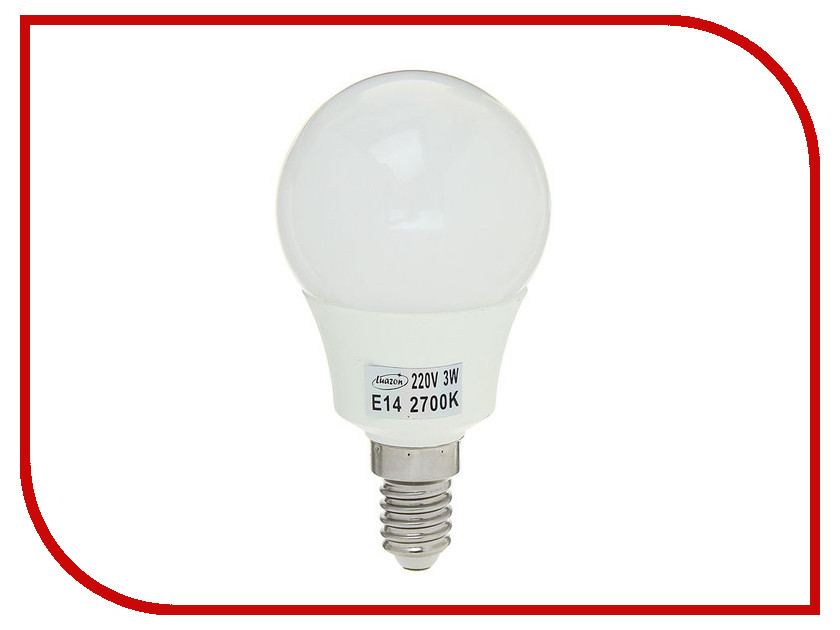 Лампочка Luazon E14 3W 2700К SMD2835 LED 240Lm 1559779 гирлянда luazon дождь 2m 6m multicolor 671678