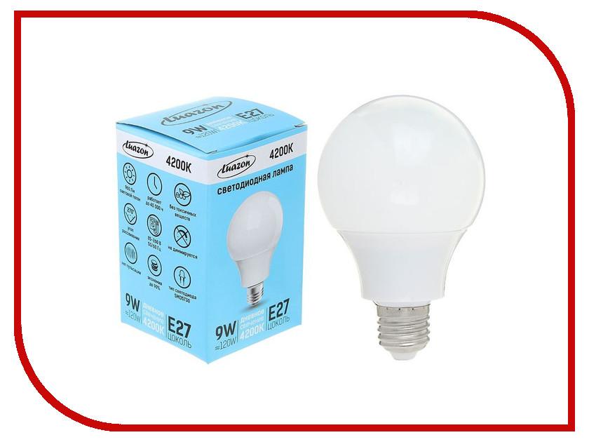 Лампочка Luazon E27 9W 4200К AL 1489121 лампочка luazon e14 3w 4200к smd2835 led 240lm 1559780