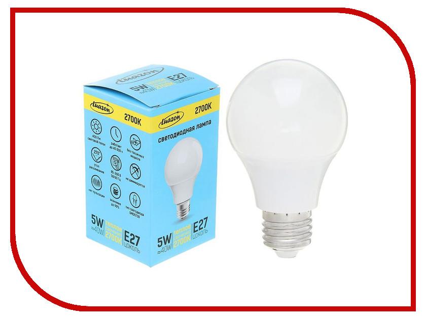 Лампочка Luazon E27 5W 2700К AL 1489115 лампочка luazon e14 3w 4200к smd2835 led 240lm 1559780