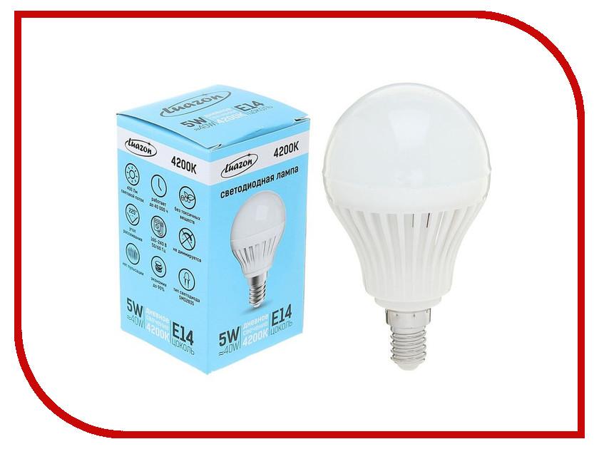 Лампочка Luazon E14 5W 4200К 1489106 лампочка luazon e14 3w 4200к smd2835 led 240lm 1559780