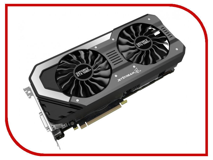 Видеокарта Palit GeForce GTX 1080 Ti 1620Mhz PCI-E 3.0 11264Mb 11000MHz 352 bit HDMI Super Jetstream NEB108TS15LC-1020J windforce видеокарта