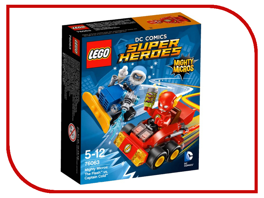Конструктор Lego Super Heroes Флэш против Капитана Холода 76063<br>