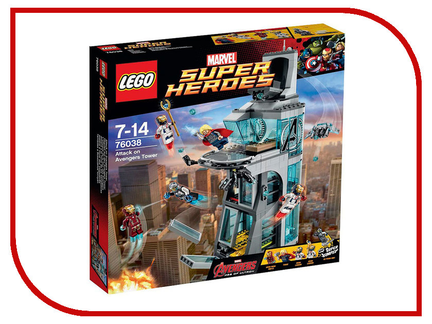 Конструктор Lego Super Heroes Нападение на башню Мстителей 76038 lego конструктор супер герои нападение на башню мстителей lego 76038