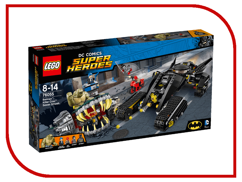 Конструктор Lego Super Heroes Бэтмен Убийца Крок 76055 конструктор lego super heroes 76054 бэтмен жатва страха