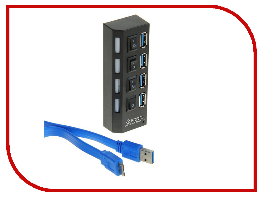 Хаб USB Luazon 4-ports 1404147