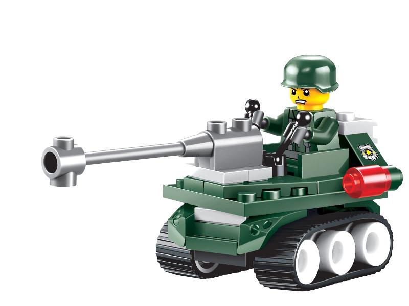 Конструктор UNICON Армия, Танк-разведчик 50 деталей 1355192