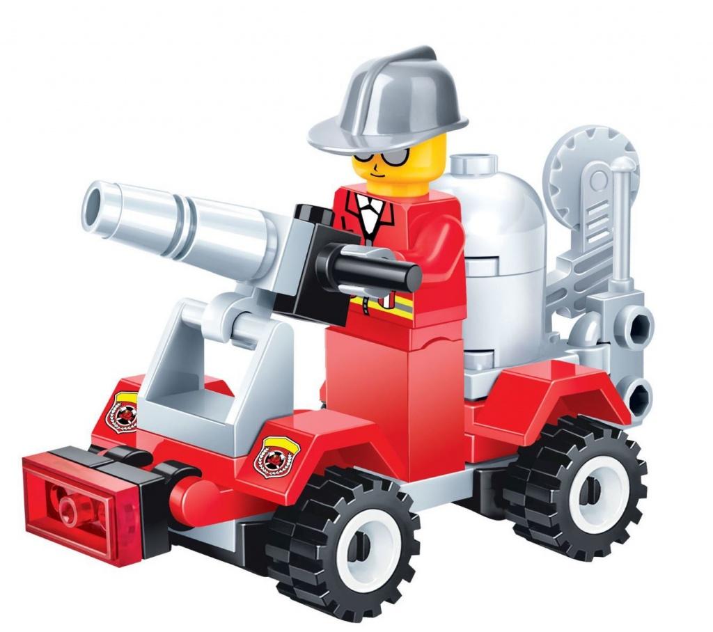 Конструктор UNICON Пожарная автоцистерна 41 деталь 1649821