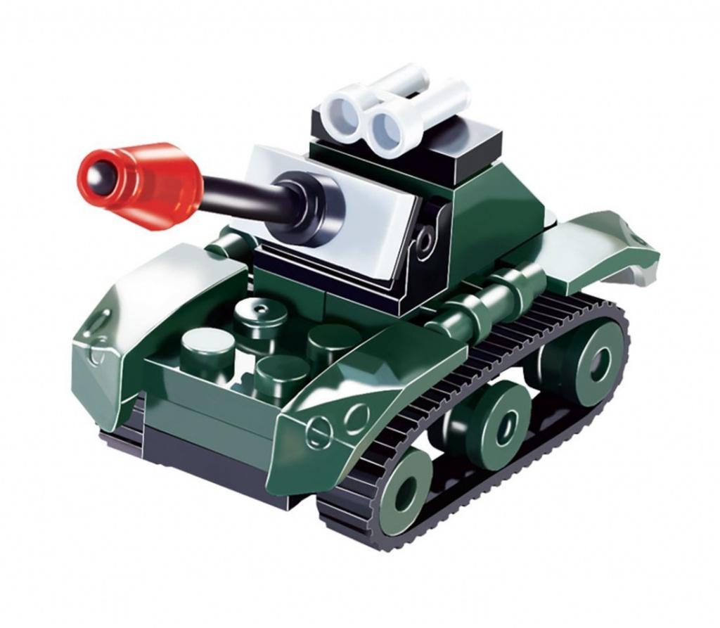 Конструктор UNICON Армия, Боевой танк 26 деталей 1355191