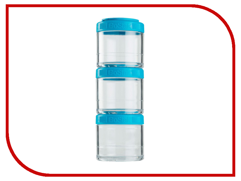 Набор контейнеров BlenderBottle GoStak 100ml Light Blue BB-G100-AQUA шейкер blenderbottle pro45 full color 1330ml grey crimson bb pr45 fcgp