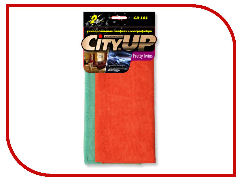 CityUp Pretty Twins Салфетки из микрофибры 2шт CA-101 cityup салфетка ca 202