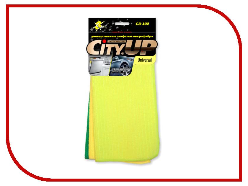 CityUp Universal Салфетки из микрофибры 3шт CA-102 аксессуар cityup губка из микрофибры ca 147