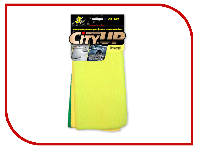 CityUp Universal Салфетки из микрофибры 3шт CA-102
