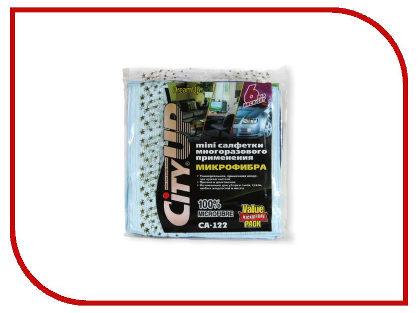CityUp Салфетки из микрофибры 6шт CA-122 cityup салфетка ca 202