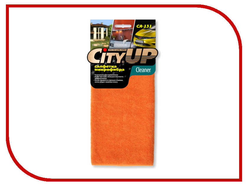 CityUp Салфетка из микрофибры CA-131 аксессуар cityup губка из микрофибры ca 147