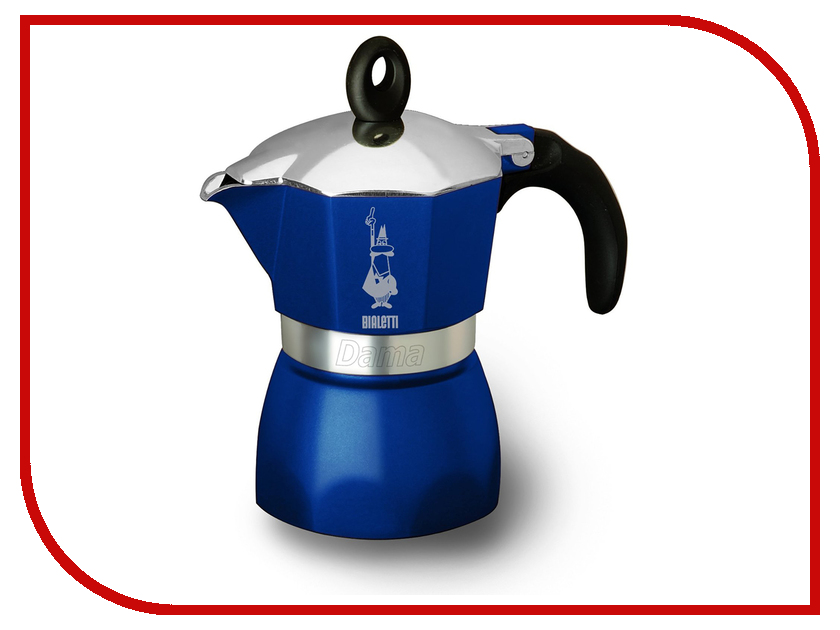 Кофеварка Bialetti Dama Glamour Blue на 3 порции 4302 bialetti