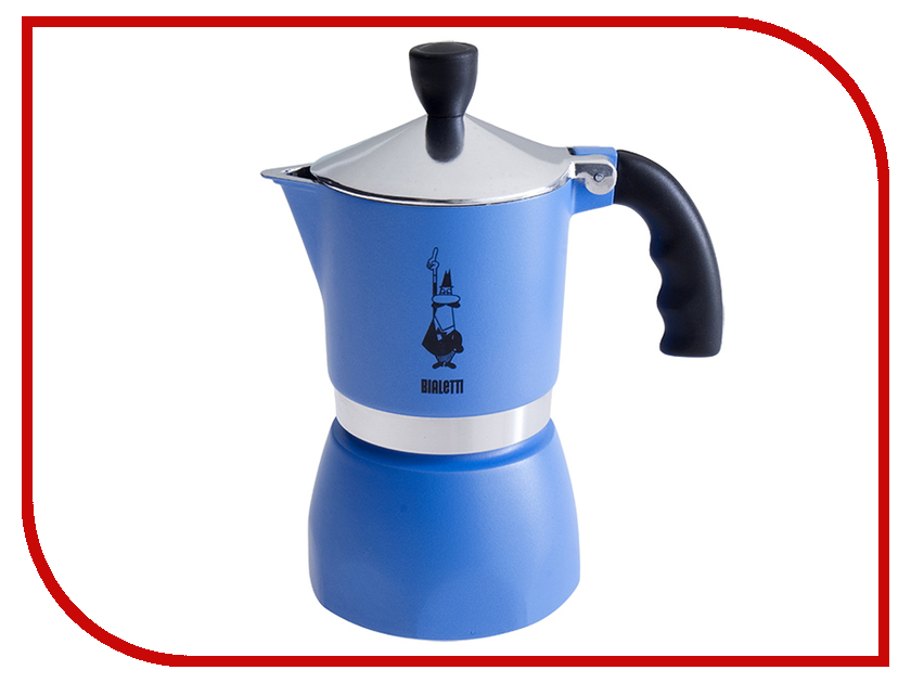 Кофеварка Bialetti Fiametta Blue на 3 порции 5722 кофеварка bialetti orzo express gialla на 2 порции 2328