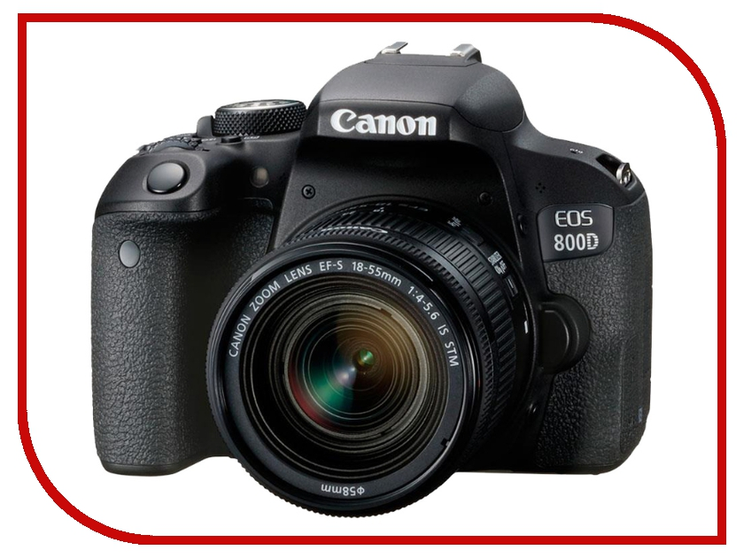 Фотоаппарат Canon EOS 800D Kit 18-55 IS STM фотоаппарат canon eos m6 kit ef m 15 45 is stm black