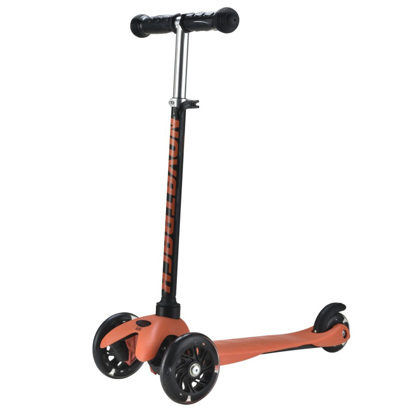 Самокат Novatrack Disco-Kids Black-Orange 120H.DISCOKIDS.BOR7