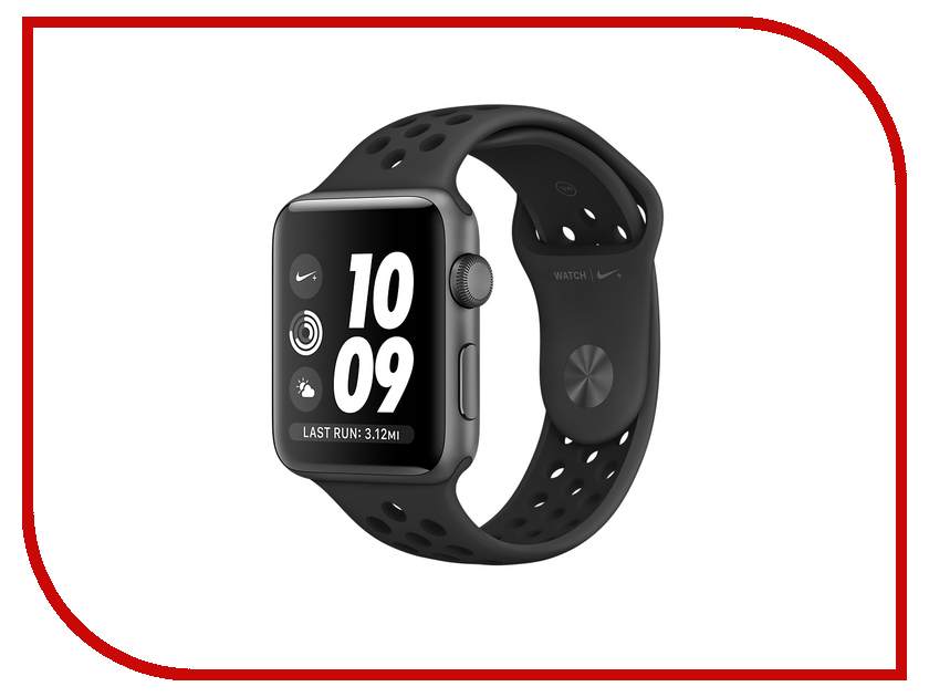 Умные часы APPLE Watch Nike+ 38mm Space Grey Aluminium Case with Anthracite-Black Nike Sport Band MQ162RU/A