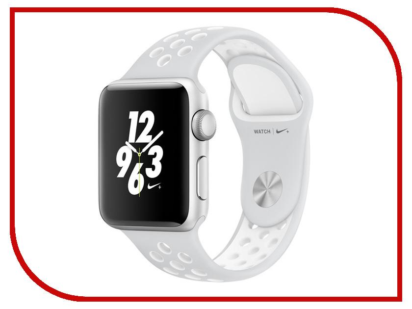 Умные часы APPLE Watch Nike+ 38mm Silver Aluminium Case with Platinum-White Nike Sport Band MQ172RU/A