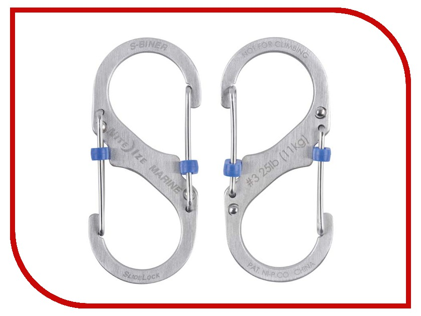 Nite Ize S-Biner Marine SlideLock размер 3 SBML3-11-R6