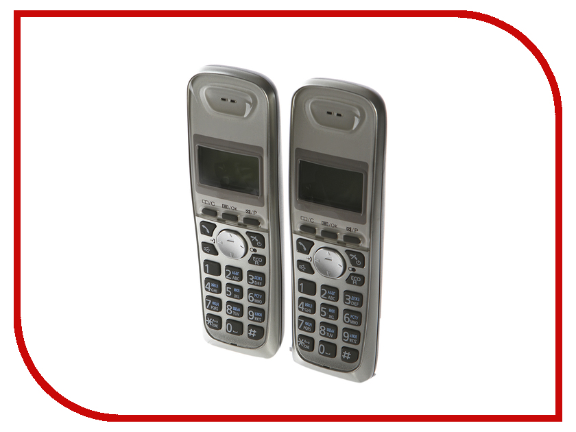 Радиотелефон Panasonic KX-TG2512 RUN panasonic kx tg2512run dect phone additional handset included eco mode time date display communication between handsets