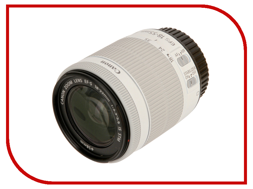 Объектив Canon EF-S 18-55mm f/3.5-5.6 IS STM объектив canon ef 50 mm f 1 8 stm
