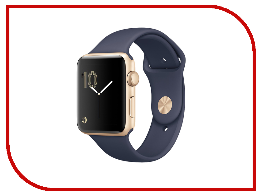 Умные часы APPLE Watch Series 2 38mm Gold Aluminium Case with Midnight Blue Sport Band MQ132RU/A чехол накладка чехол накладка iphone 6 6s 4 7 lims sgp spigen стиль 1 580075