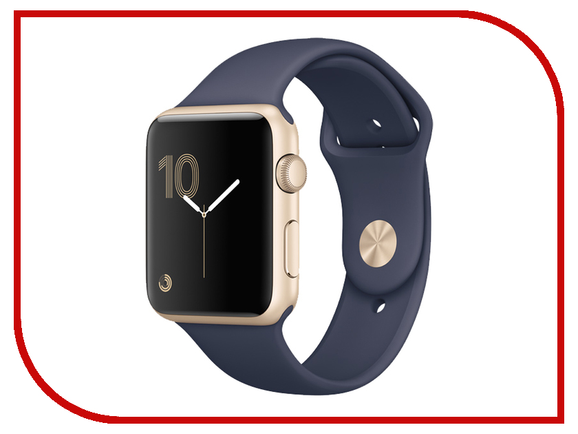 Zakazat.ru: Умные часы APPLE Watch Series 2 42mm Gold Aluminium Case with Midnight Blue Sport Band MQ152RU/A
