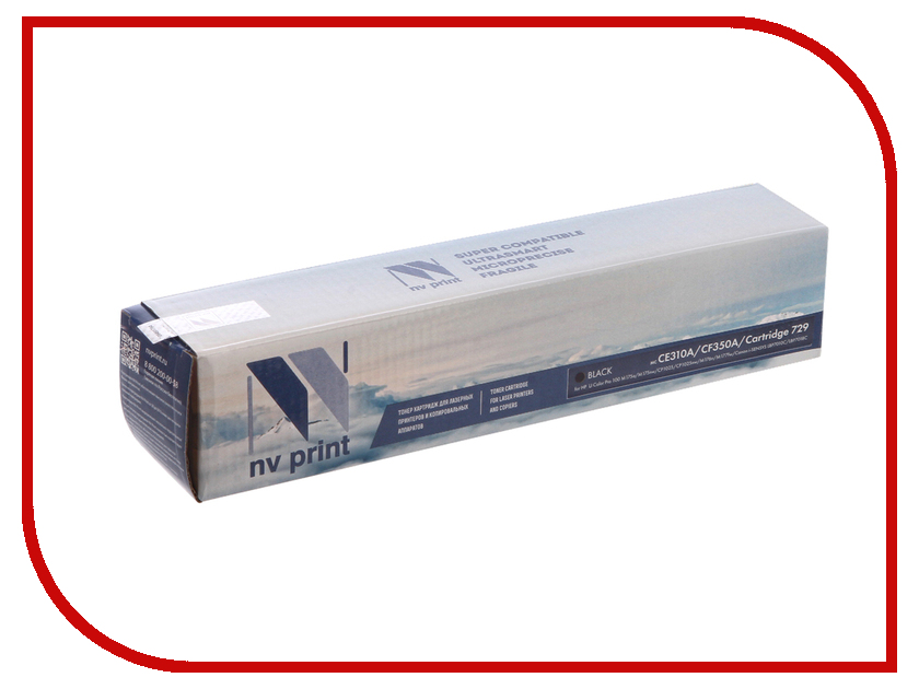 Картридж NV Print HP CE310A / CF350A / 729 Black для LJ Color Pro 100 M175a / M175nw / CP1025nw / M176n / M177w / i-SENSYS LBP7010C / LBP7018C худи print bar cs go asiimov black