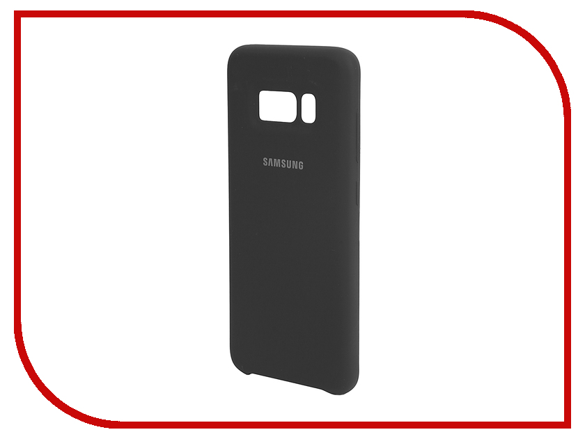 Аксессуар Чехол Samsung Galaxy S8 Silicone Cover Dark Grey EF-PG950TSEGRU аксессуар чехол samsung galaxy s8 with love moscow starlight night 7037