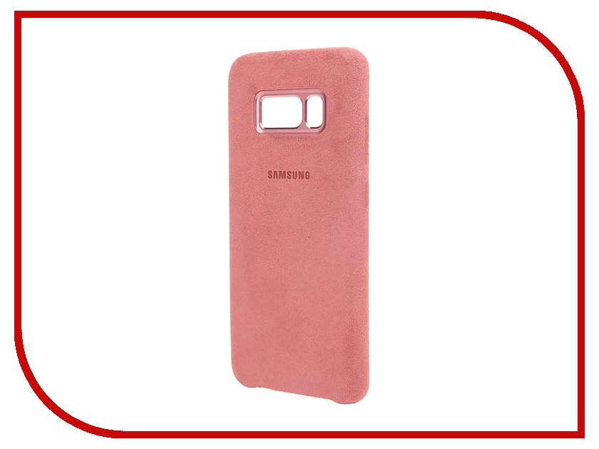 Аксессуар Чехол Samsung Galaxy S8 Alcantara Cover Pink EF-XG950APEGRU чехол клип кейс samsung alcantara cover для samsung galaxy s8 розовый [ef xg950apegru]