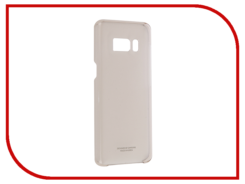 Аксессуар Чехол Samsung Galaxy S8 Clear Cover Gold EF-QG950CFEGRU