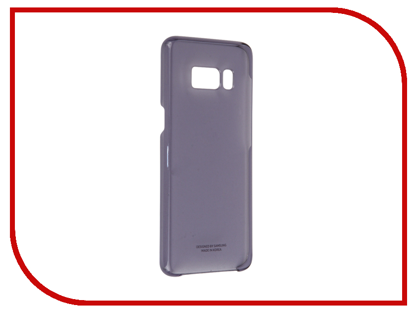 Аксессуар Чехол Samsung Galaxy S8 Clear Cover Purple EF-QG950CVEGRU аксессуар чехол samsung galaxy s8 plus silicone cover purple ef pg955tvegru