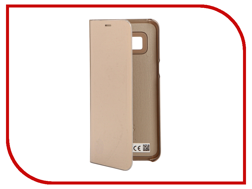Аксессуар Чехол Samsung Galaxy S8 Clear View Standing Cover Gold EF-ZG950CFEGRU чехол samsung ef zg955cbegru для samsung galaxy s8 clear view standing cover черный