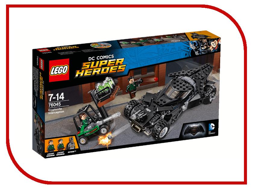 Конструктор Lego DC Super Heroes Перехваткриптонита 76045 ночники lego игрушка минифигура фонарь lego dc super heroes супер герои dc batman бэтмен на подставке