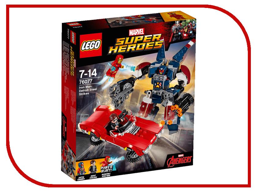 Конструктор Lego Marvel Super Heroes Стальной Детройт наносит удар 76077 конструктор lego marvel super heroes подводная атака железного черепа 76048