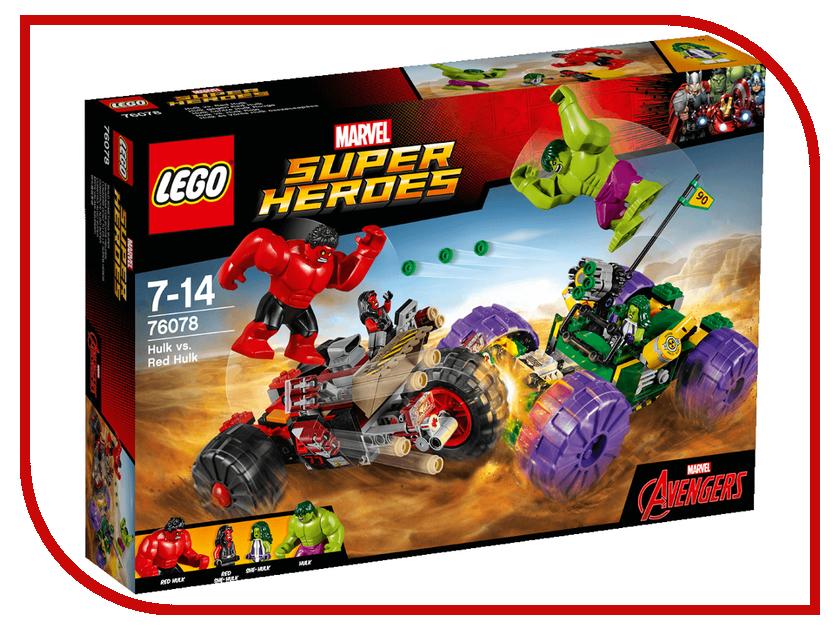 Конструктор Lego Marvel Super Heroes Халк против Красного Халка 76078 конструктор lego super heroes росомаха против магнето 76073