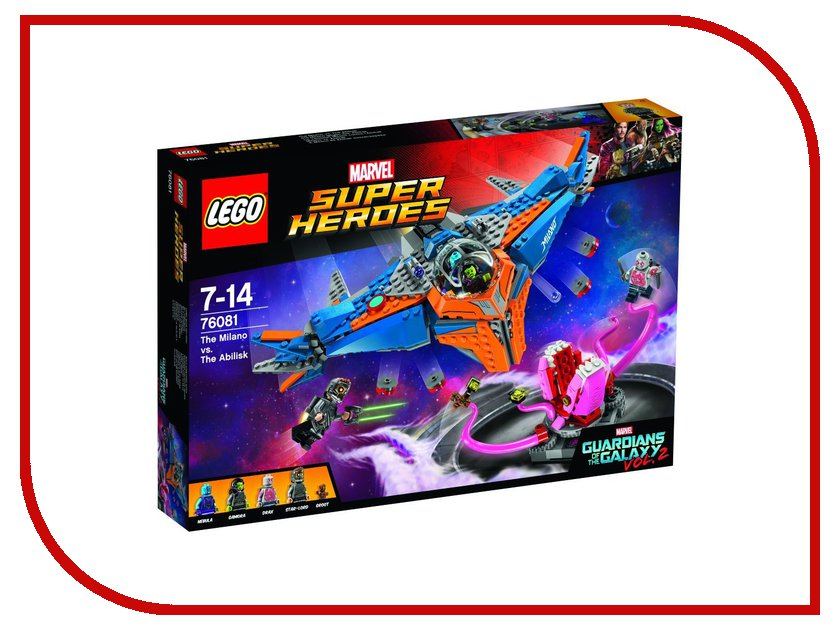Конструктор Lego Marvel Super Heroes Милано против Абелиска 76081 конструкторы lego lego конструктор супергерои джокерленд 76035 super heroes