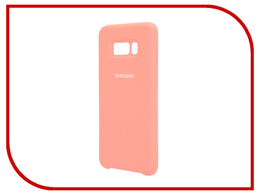 Аксессуар Чехол Samsung Galaxy S8 Plus Silicone Cover Pink EF-PG955TPEGRU аксессуар чехол samsung galaxy a7 2017 with love moscow silicone russia 5090