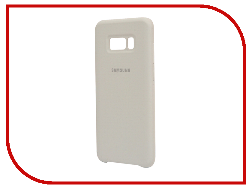Аксессуар Чехол Samsung Galaxy S8 Plus Silicone Cover White EF-PG955TWEGRU аксессуар чехол samsung galaxy s8 plus silicone cover purple ef pg955tvegru