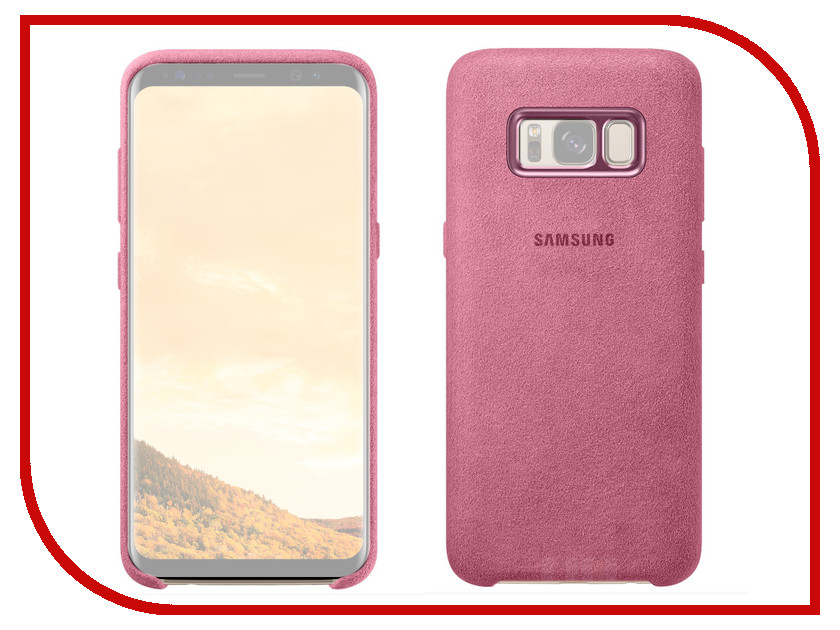 Аксессуар Чехол Samsung Galaxy S8 Plus Alcantara Cover Pink EF-XG955APEGRU аксессуар чехол samsung galaxy s8 plus led view cover light blue ef ng955plegru