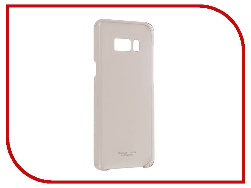 Аксессуар Чехол Samsung Galaxy S8 Plus Clear Cover Gold EF-QG955CFEGRU