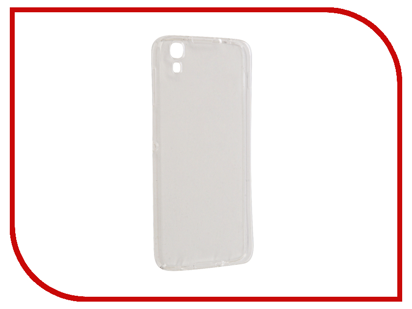 Аксессуар Чехол Alcatel One Touch Idol 4 6055K Svekla Silicone Transparent SV-ALC6055K-WH
